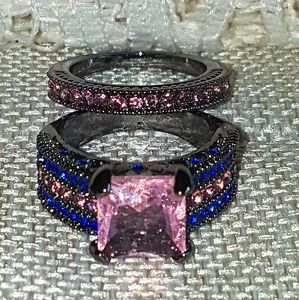 Gorgeous ring set 925, size 8
